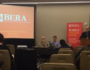 Gert Biesta, Dominic Wyse and Ian Menter at AERA