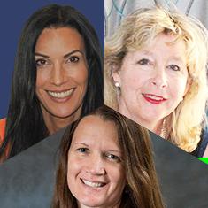 Kristen Gregory, Helen Crompton & Diane Burke